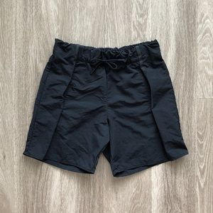 nike sportswear bonded black athletic shorts